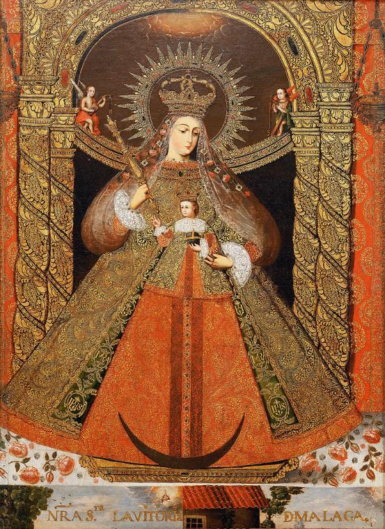 Luis Niño, Virgen de la Victoria, Potosí, 1740